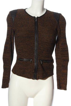 H&M Strickjacke schwarz-braun meliert Casual-Look