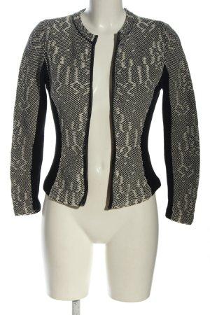 H&M Strickjacke schwarz-weiß Zopfmuster Casual-Look
