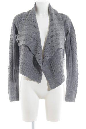 H&M Strickjacke grau Casual-Look