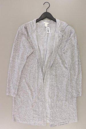 H&M Strickjacke Größe L Langarm grau aus Baumwolle