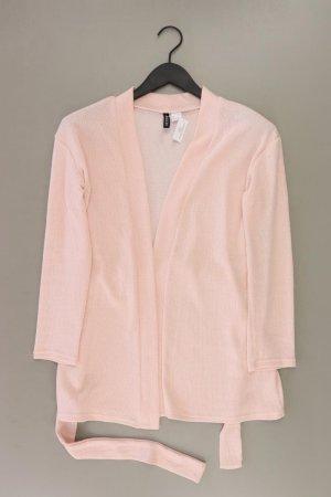 H&M Strickjacke Größe S mit Gürtel Langarm rosa aus Polyester