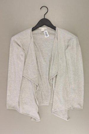 H&M Strickjacke Größe XS Langarm grau aus Polyester
