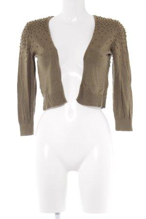 H&M Strickjacke olivgrün Casual-Look