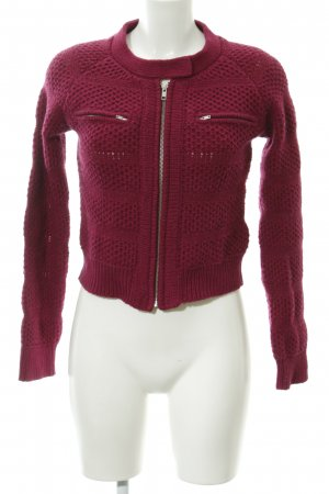 H&M Strickjacke purpur Casual-Look