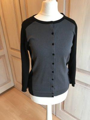 H&M Strickjacke schwarz grau Retro Style