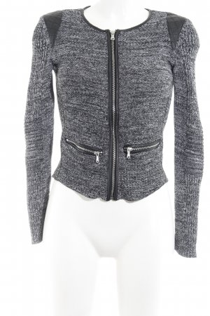 H&M Strickjacke schwarz-hellgrau meliert Casual-Look