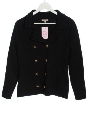 H&M Strickjacke schwarz Streifenmuster Casual-Look