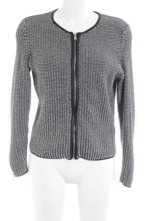 H&M Strickjacke schwarz-weiß Streifenmuster Casual-Look