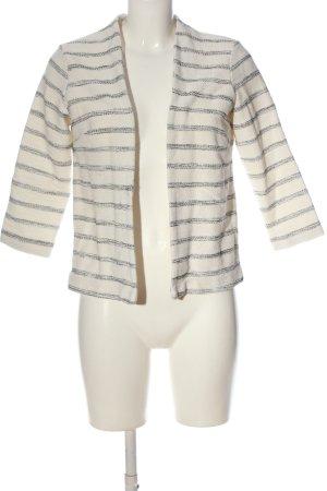 H&M Strickjacke weiß-schwarz Streifenmuster Casual-Look