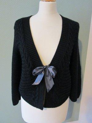 H&M Strickjacke Wolle Boho Stil Gr. xs/s schwarz