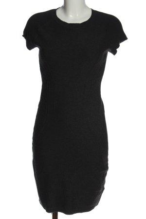 H&M Strickkleid schwarz Allover-Druck Casual-Look