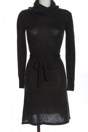 H&M Knitted Dress black flecked casual look