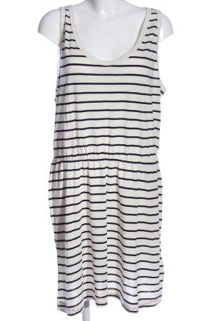 H&M Strickkleid weiß-schwarz Streifenmuster Casual-Look