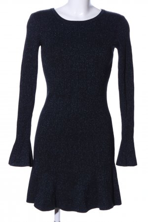 H&M Strickkleid schwarz-blau Elegant