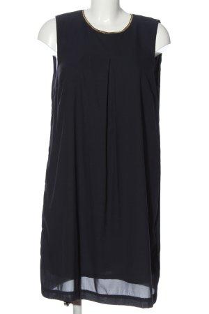 H&M Strickkleid schwarz-goldfarben Elegant