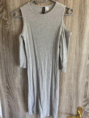 H&M Robe découpée gris clair