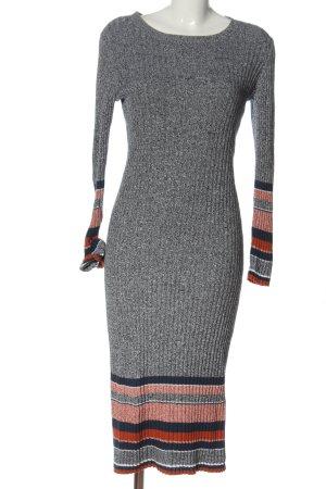 H&M Strickkleid Streifenmuster Casual-Look