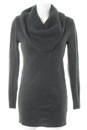 H&M Strickkleid dunkelgrün Casual-Look