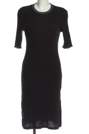 H&M Strickkleid schwarz Elegant