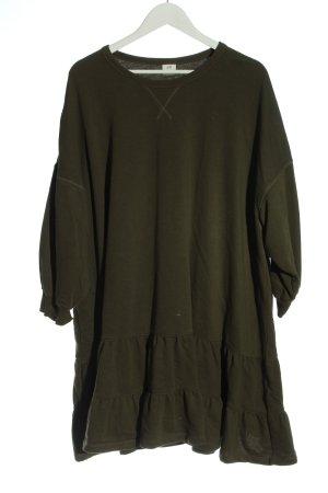 H&M Strickkleid khaki Casual-Look
