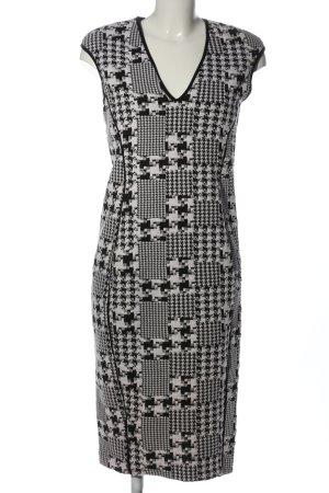 H&M Strickkleid schwarz-weiß Allover-Druck Casual-Look