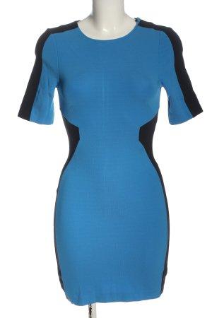H&M Strickkleid blau-schwarz Elegant