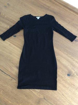 H&M Vestido tejido negro