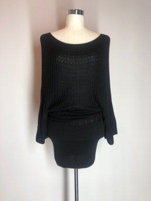 H&M Robe en maille tricotées noir viscose