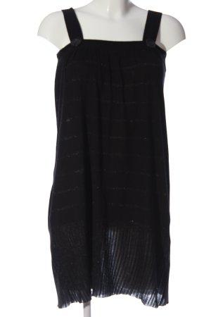 H&M Strickkleid schwarz Streifenmuster Casual-Look