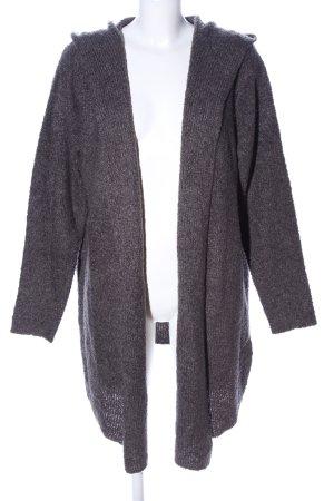 H&M Cappotto a maglia grigio chiaro puntinato stile casual
