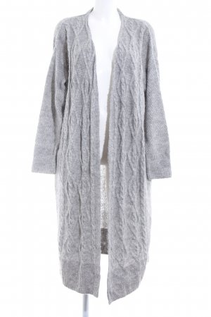 H&M Abrigo de punto gris claro moteado look casual