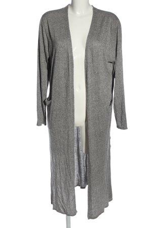H&M Manteau en tricot gris clair moucheté style décontracté