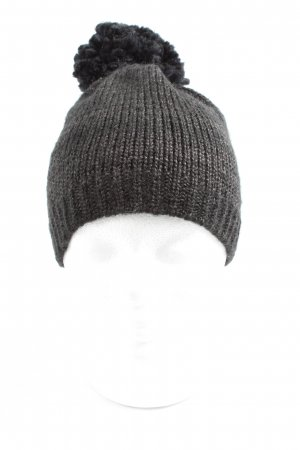 H&M Knitted Hat light grey cable stitch casual look