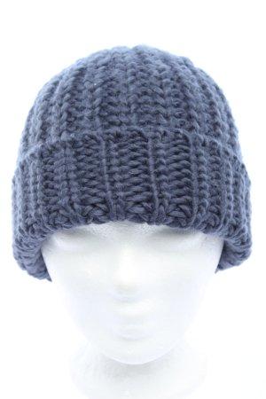 H&M Sombrero de punto azul punto trenzado look casual