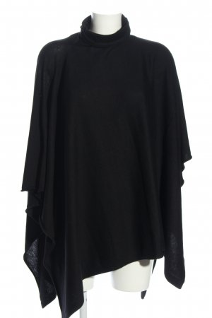 H&M Knitted Poncho black casual look