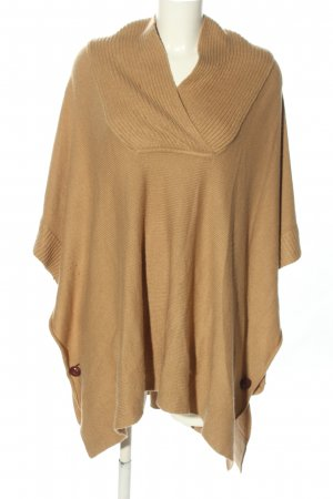 H&M Strickponcho nude Zopfmuster Casual-Look