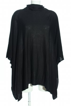 H&M Strickponcho schwarz Casual-Look