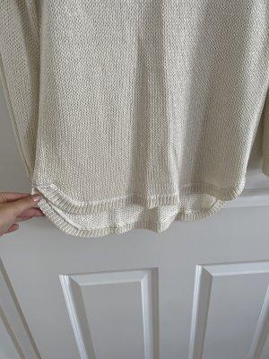 H&M Pull en crochet blanc cassé