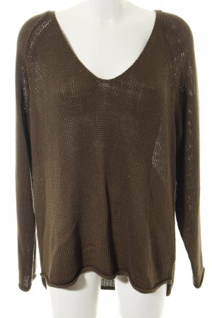 H&M Strickpullover braun Casual-Look
