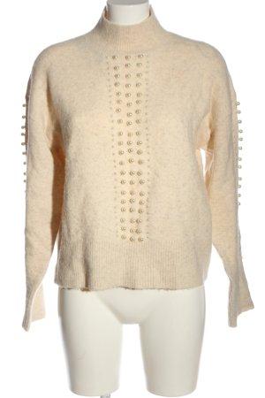 H&M Pull tricoté crème torsades style décontracté