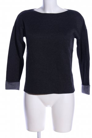 H&M Strickpullover schwarz meliert Casual-Look