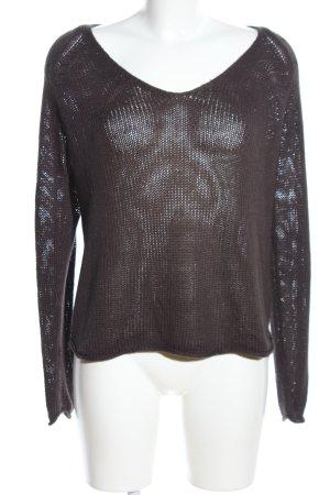 H&M Strickpullover braun Casual-Look