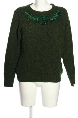 H&M Strickpullover grün meliert Casual-Look