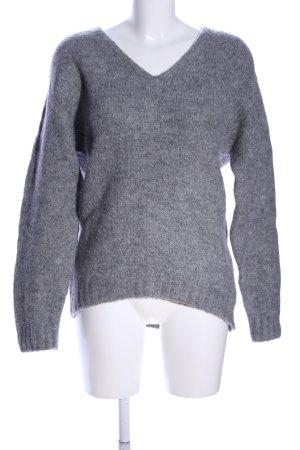H&M Strickpullover hellgrau meliert Casual-Look
