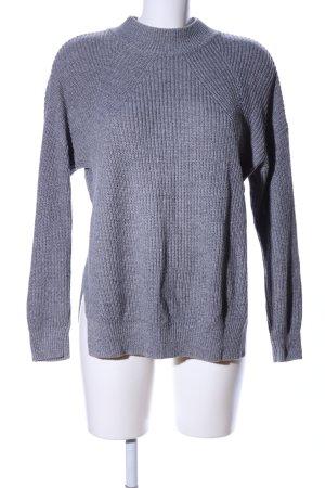 H&M Strickpullover hellgrau Casual-Look