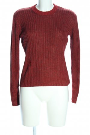 H&M Strickpullover rot meliert Casual-Look