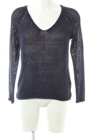 H&M Strickpullover schwarz Zopfmuster Casual-Look