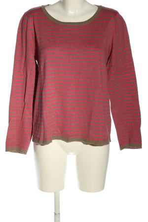 H&M Strickpullover braun-pink Streifenmuster Casual-Look
