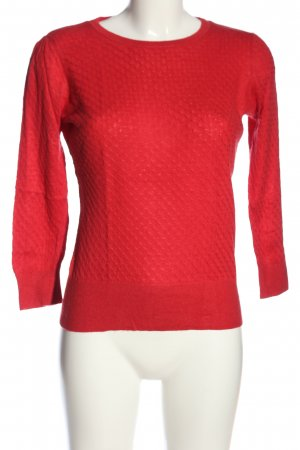 H&M Strickpullover rot Allover-Druck Casual-Look