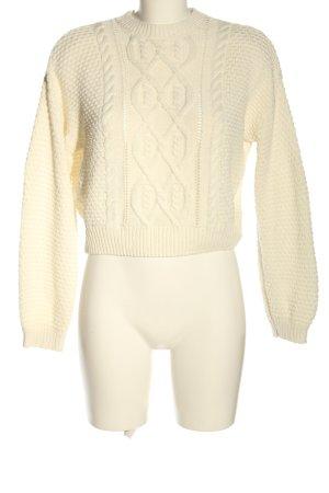 H&M Sweter z dzianiny kremowy Warkoczowy wzór W stylu casual
